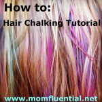 How To Chalk Your Hair: Temporary Streaks {Tutorial}
