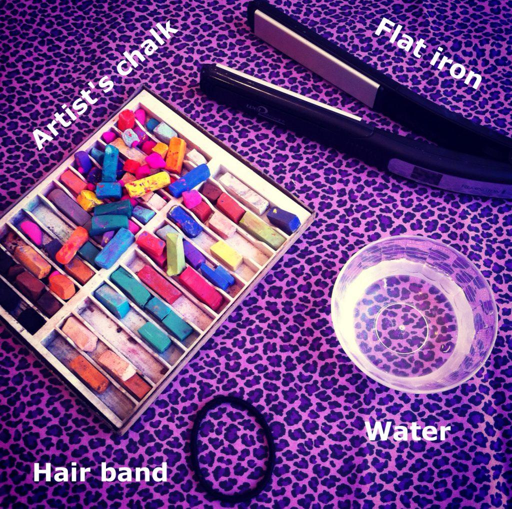 Hair chalking how to chalk hair dark brown hairs