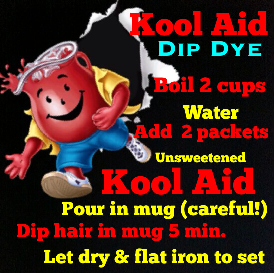 how to get kool aid dye out of hair
