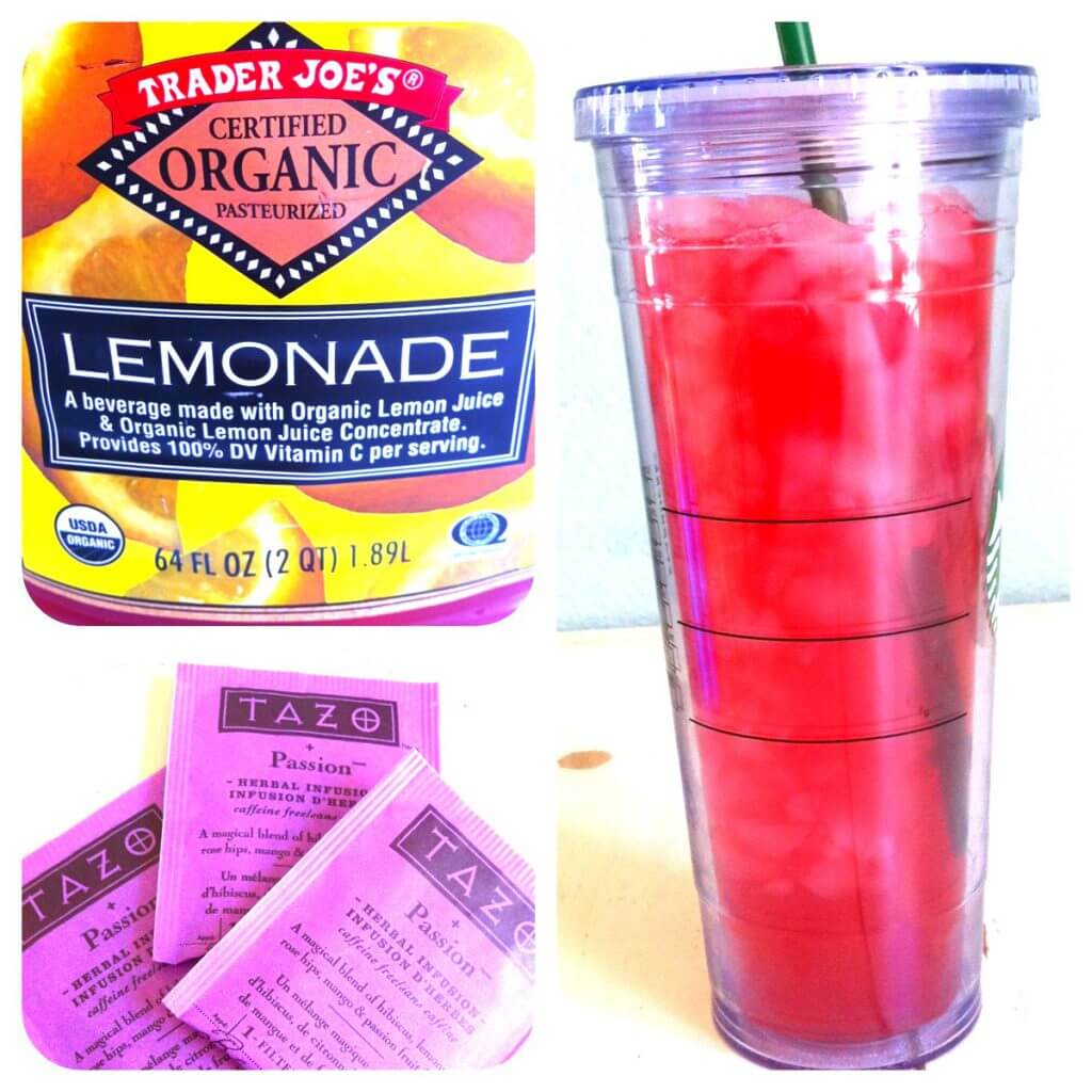 {Recipe} Starbucks Style Passionfruit Lemonade Iced Tea