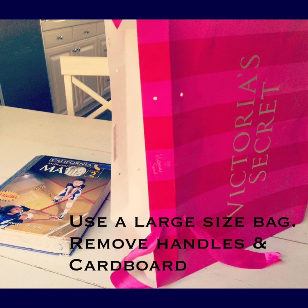 How To Make A Book Cover With A Victoria Secret Bag ~ Victoria s secret bag book cover how to momfluential media