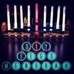 DIY Star Wars Lego Glow Stick Menorah