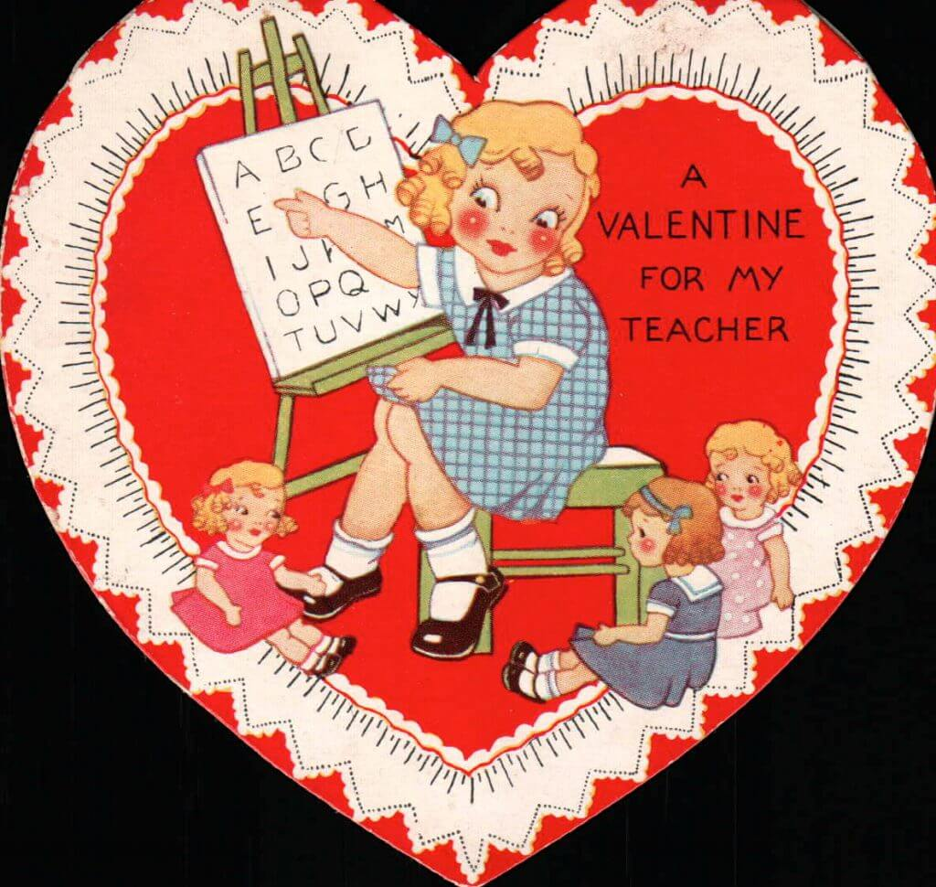 valentines day memes for teachers - Adorable Vintage Valentines for Teachers Momfluential Media