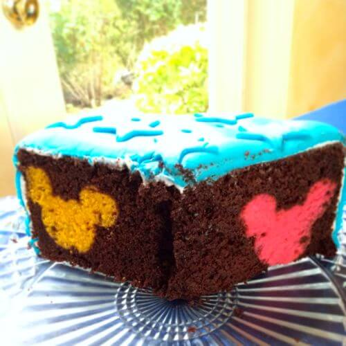 Rainbow Hidden Mickey Cake