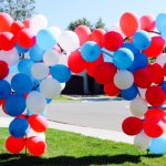 Patriotic Mickey Mouse Balloon Arch