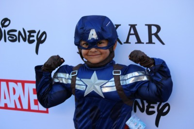 Captain America at Disney Party