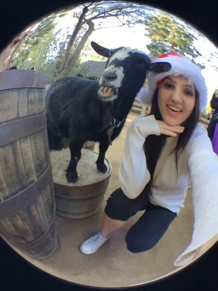 Selfie with a Goat at Disneyland