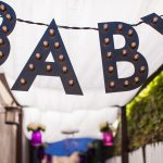 partylayne, baby shower, Edision bulbs, light up sign