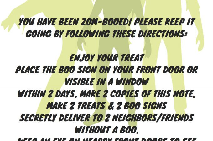The Neighborhood Zom-BOO – Free Zombie Boo Printable