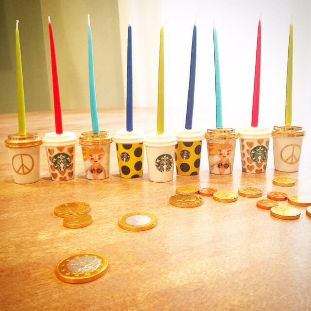 Starbucks Cup Menorah