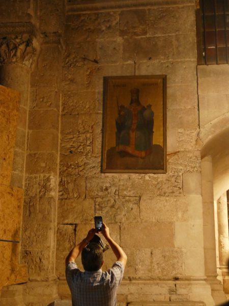 Artwork in The Church of the Holy Sepulchre in Jerusalem