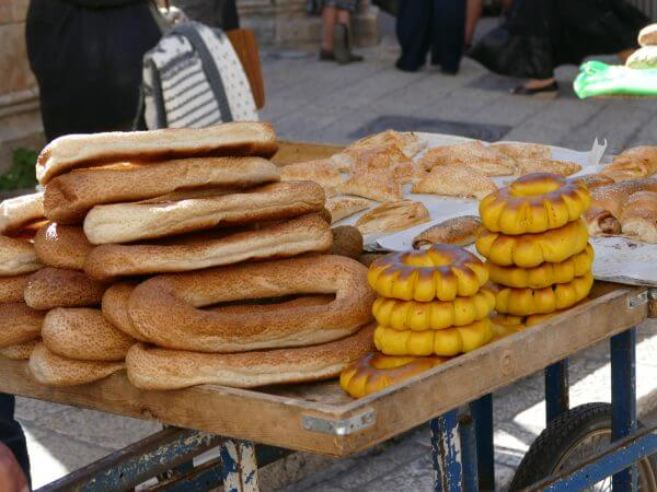Jerusalem Bagels and bread near the Church of the Holy Sepulchre
