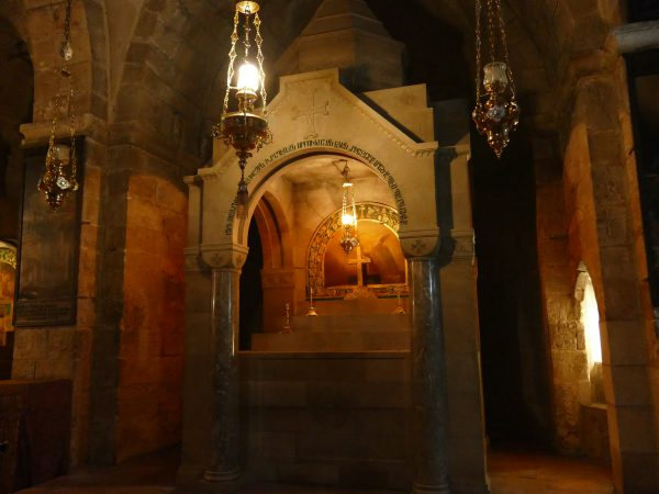 The Chapel of Helena in the Church of the Holy Sepulchre