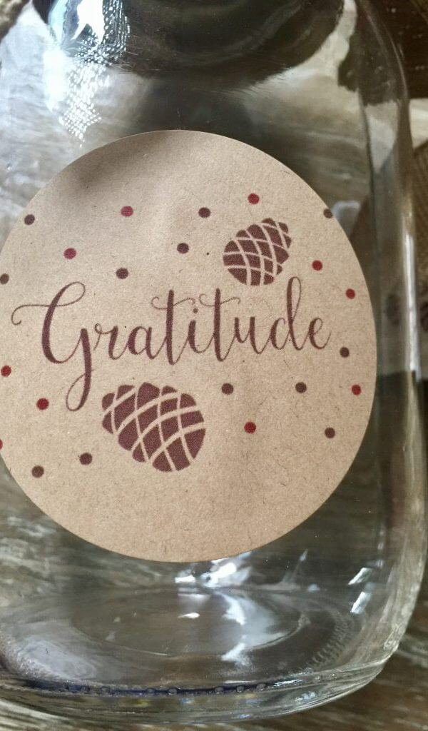 Avery Labels Thanksgiving Gratitude Jar Activity