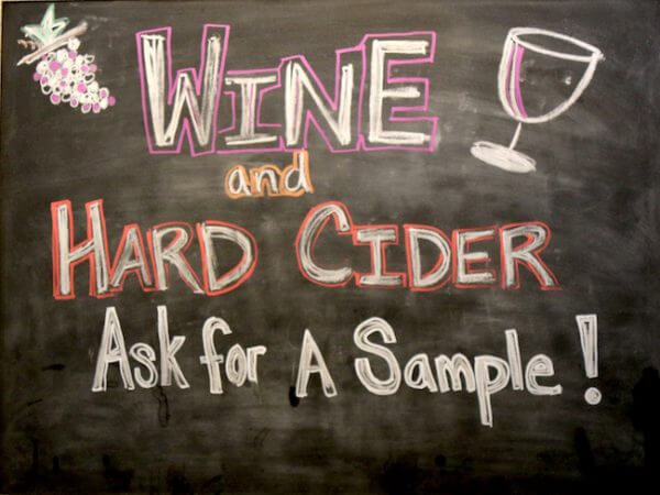 Cider Tasting at Snow Line Orchards in Oak Glen Fall Season