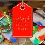 Clever Music Teacher Guitar Pick Holiday Gift