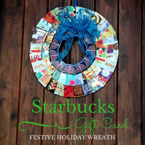 Easy and Inexpensive Colorful Starbucks Gift Card Wreath