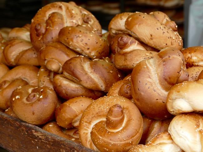 challah bread at Machane Yehuda Market in Jerusalem Israel