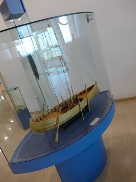 model of the Jesus Boat in the Galilee