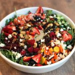 Bejeweled Holiday Salad with Quinoa, Goat Cheese, Pomegranate & Baby Kale