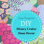 Easy Disney Cruise Cabin Door Decor for Pennies