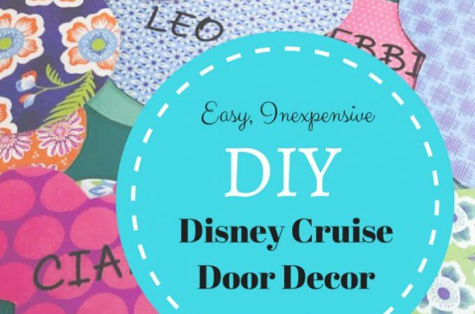Easy Disney Cruise Cabin Door Decor for Pennies
