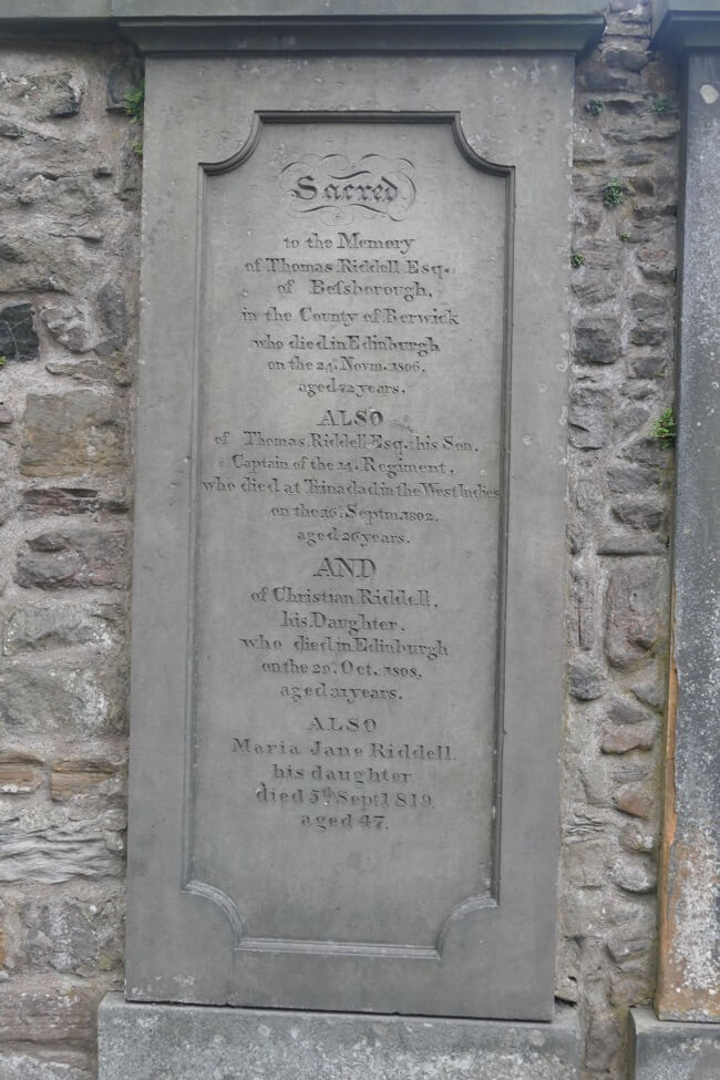 Tom riddle's grave in Greyfriars Kirkyard