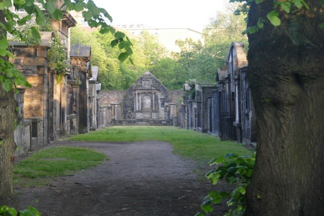 Prisoners field in Greyfriars kirkyard