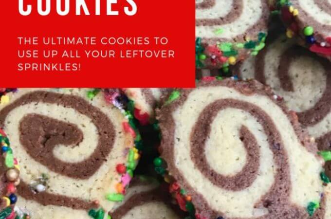 Tipsy Elf Pinwheel Cookies With Mixed Up Sprinkles