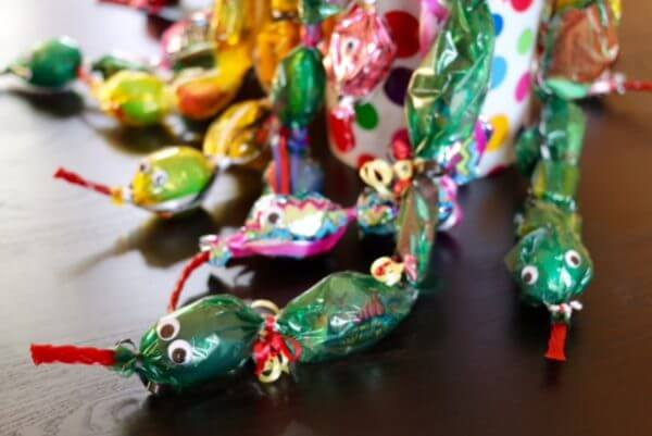 Cute little friendly candy lei snakes!