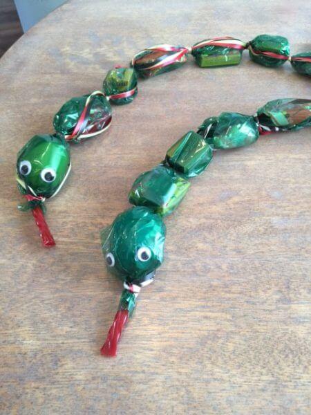 so cute - candy lei snake!