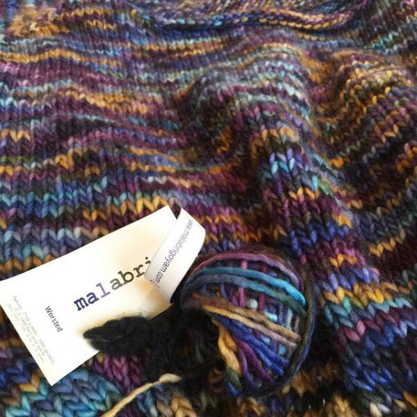 Malabrigo Yarn Sweater - Variegated colors are so pretty