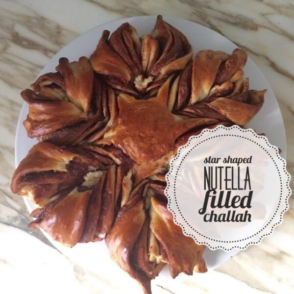 Star Shaped Nutella Filled Challah Recipe