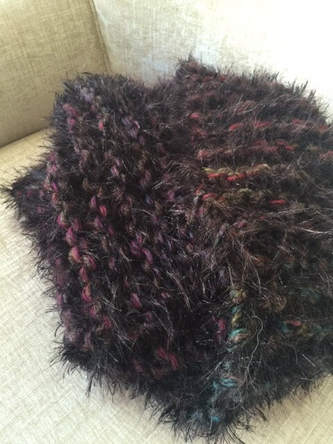 LION BRAND PELT AND ALPACA SCARF