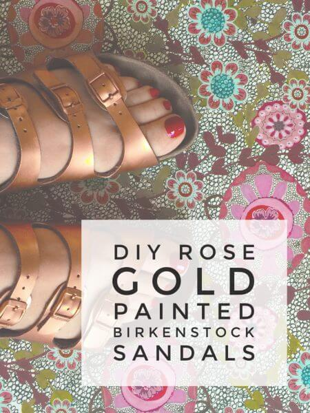 DIY Painted Birkenstock Sandals
