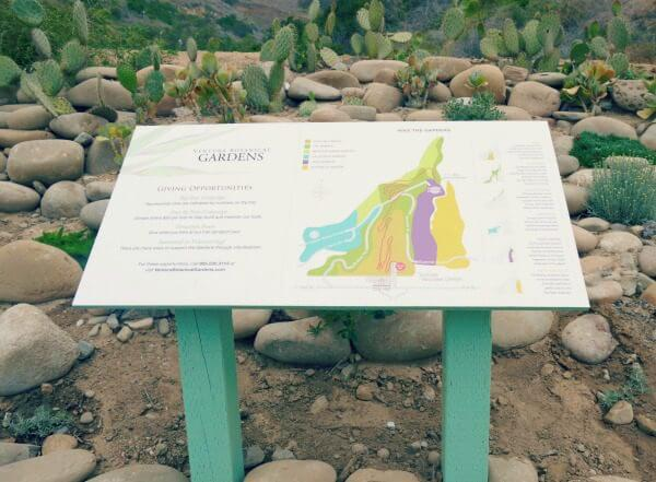 Ventura Botanical Garden Map