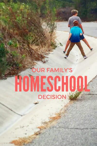 Our decision to homeschool