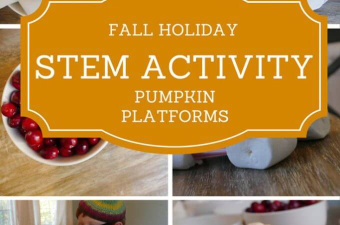 Fall stem learning project: Building Pumpkin Platforms