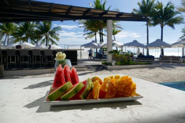 fruit plate at Discovery Shores Boracay
