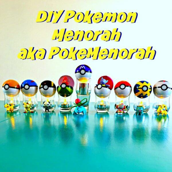 DIY Pokemon Menorah