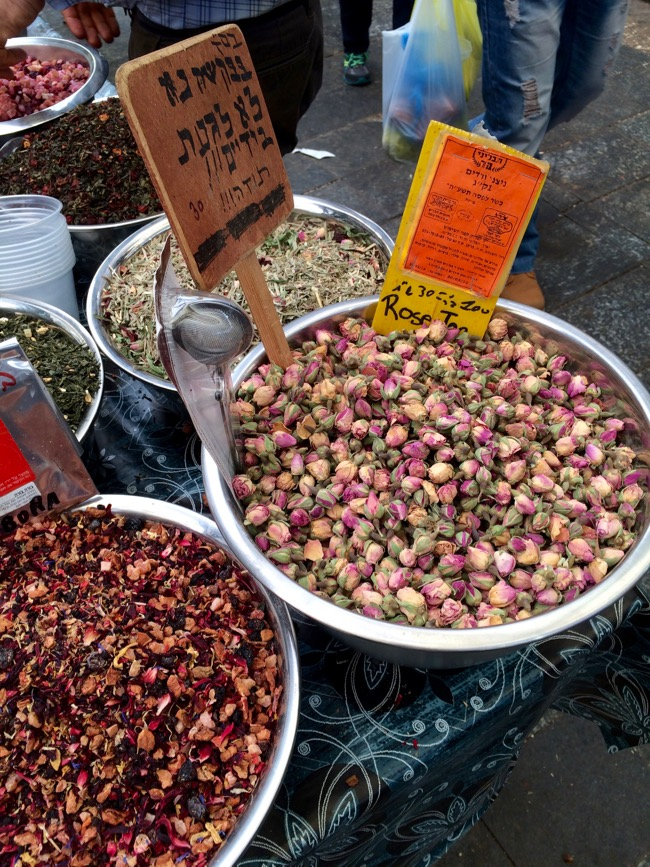 Rosebud tea at Machane Yehuda Market in Jerusalem Israel