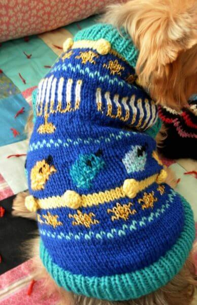 Hanukkah Dog Sweater Via Etsy